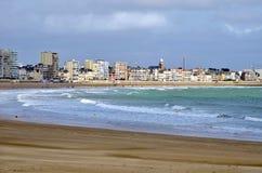 Beache von Les-Zobel d'Olonne in Frankreich lizenzfreies stockbild
