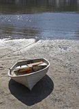 Beached Boat. Boat on a mud flat Royalty Free Stock Photos