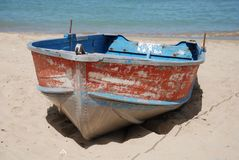 Beached Boat Royalty Free Stock Photos