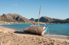 Beached boat Royalty Free Stock Photo