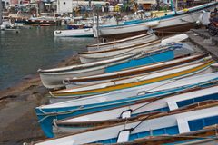 Beached Boats Stock Images