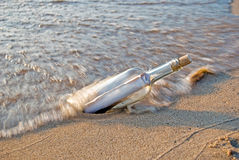 Beached Bottle Stock Photos