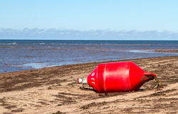 Beached Buoy Stock Image