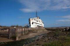 The beached Duke of Lancaster Royalty Free Stock Images