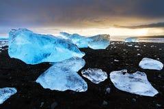 Beached ice Iceland Stock Photo