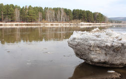 Beached Kan River floe. Zelenogorsk Royalty Free Stock Photography