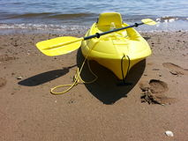 Beached kayaK Royalty Free Stock Photo