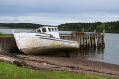 Beached Maritime fishing boat Royalty Free Stock Photo