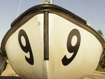 Beached sailboat bow Stock Images