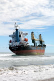 Beached ship Stock Images