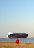 Beached Ship Stock Photography