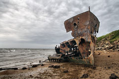 A beached shipwreck Royalty Free Stock Photos