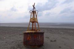 Beached warning buoy Royalty Free Stock Photo