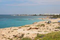 Beaches in Agia Napa, Cyprus. Stock Photography