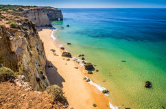 beaches in the Algarve Royalty Free Stock Photo