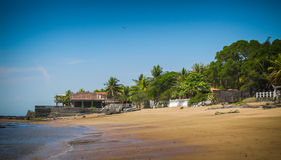 Beaches along the coast in El Salvador. Stock Photos
