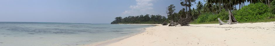 Beaches at the Andamans. White sand and warm water stock photos