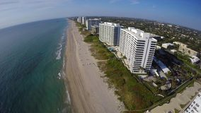 Beaches of Boca Raton FL stock video footage