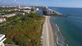 Beaches of Boca Raton FL stock footage