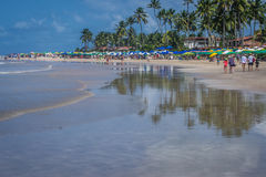 Beaches of Brazil - Porto de Galinhas. The beach of Porto de Galinhas is one of the most famous of Brazil. It is located in Ipojuca, near Recife, the state royalty free stock image