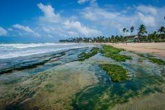 Beaches of Brazil - Porto de Galinhas. The beach of Porto de Galinhas is one of the most famous of Brazil. It is located in Ipojuca, near Recife, the state Stock Photos