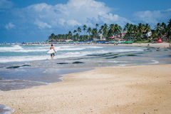 Beaches of Brazil - Porto de Galinhas. The beach of Porto de Galinhas is one of the most famous of Brazil. It is located in Ipojuca, near Recife, the state royalty free stock photography