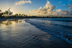 Beaches of Brazil - Porto de Galinhas. The beach of Porto de Galinhas is one of the most famous of Brazil. It is located in Ipojuca, near Recife, the state royalty free stock images