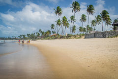 Beaches of Brazil - Porto de Galinhas. The beach of Porto de Galinhas is one of the most famous of Brazil. It is located in Ipojuca, near Recife, the state stock photography