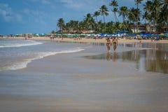 Beaches of Brazil - Porto de Galinhas. The beach of Porto de Galinhas is one of the most famous of Brazil. It is located in Ipojuca, near Recife, the state Stock Image