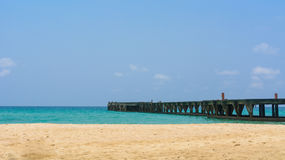 Beaches and Bridges Royalty Free Stock Photo
