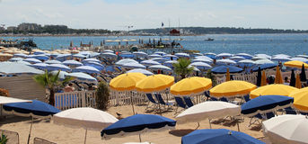Beaches of Cannes, French Riviera, France Stock Photography