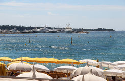 Beaches of Cannes, French Riviera, France Stock Image