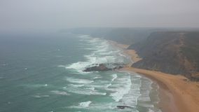 Beaches Clifs And Fog Along Ocean Coast. Stock video in 4k or HD resolution stock video footage