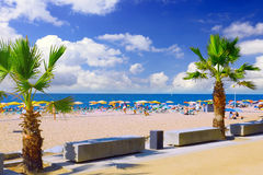 Beaches, coast in Spain . Beaches, coast in Spain near Barcelona stock images