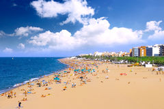 Beaches, coast in Spain . Beaches, coast in Spain near Barcelona stock photography