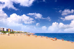 Beaches, coast in Spain . Beaches, coast in Spain near Barcelona royalty free stock photography