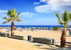 Beaches, coast in Spain . Royalty Free Stock Photos