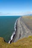 Beaches on the coast of Vik. Endless beaches of the Icelandic coast Stock Photography