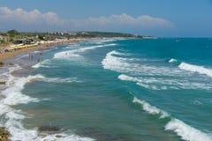 The beaches on the coastline Royalty Free Stock Photos