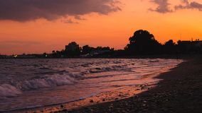 Beaches of Cyprus, Larnaca Royalty Free Stock Photo