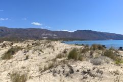 Beaches and Dunes on Crete Stock Images