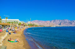 Beaches of Eilat Royalty Free Stock Photography
