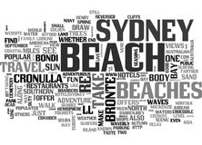 Beaches For Fun In The Sun Word Cloud. BEACHES FOR FUN IN THE SUN TEXT WORD CLOUD CONCEPT royalty free illustration