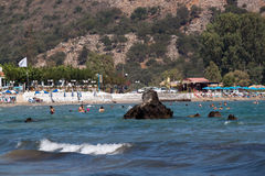 Beaches of Georgioupolis, Crete royalty free stock photography