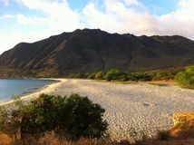 Beaches of Hawaii. This picture was taken at Makua Beach on Oahu Hawaii. A peaceful place without any tourist or crowd making it a romantic place with your Royalty Free Stock Photography