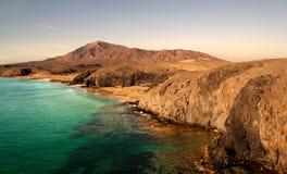 Beaches lanzarote Royalty Free Stock Photography