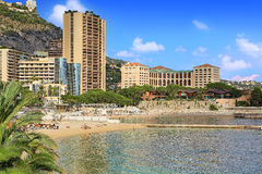 Beaches in Monte Carlo Royalty Free Stock Photography
