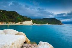 The beaches of Monte Conero Stock Photos