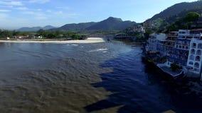 Beaches and paradisiacal places, wonderful beaches around the world, Restinga of Marambaia Beach, Rio de Janeiro, Brazil. South America stock video