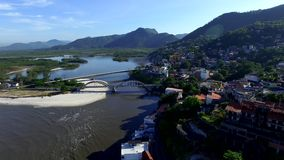 Beaches and paradisiacal places, wonderful beaches around the world, Restinga of Marambaia Beach, Rio de Janeiro, Brazil. South America stock video